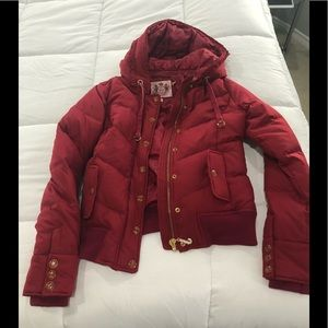 Juicy couture jacket red w/ gold and crystal